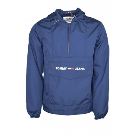 Coupe-vent enfilable Tommy Jeans bleu marine pour homme