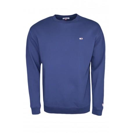 Sweat col rond Tommy Jeans bleu marine pour homme