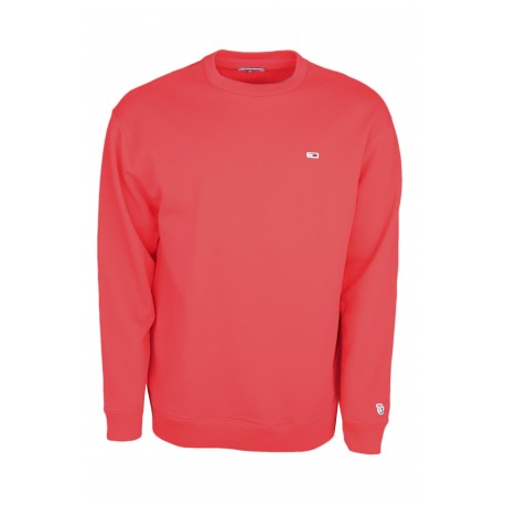 Sweat col rond Tommy Jeans rouge pour homme
