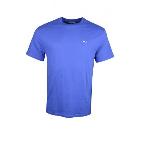 T-shirt col rond Tommy Jeans bleu roi basique régular pour homme