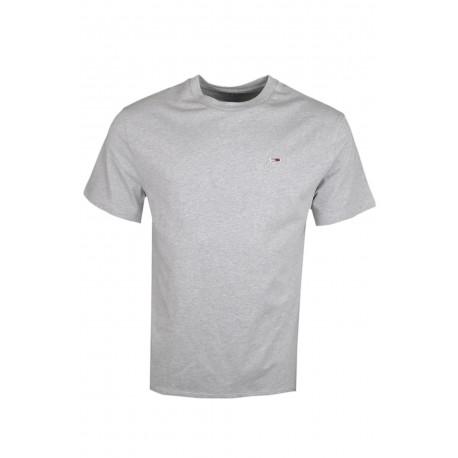 T-shirt col rond Tommy Jeans gris basique régular pour homme