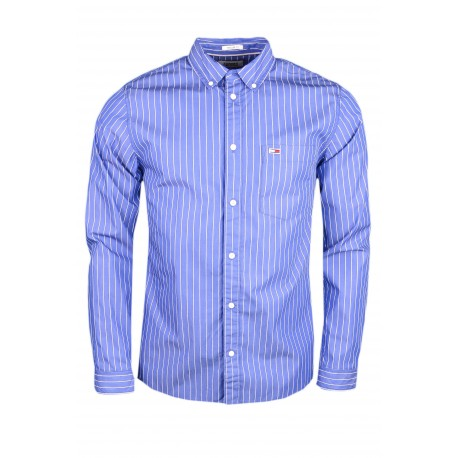 Chemise à rayures Tommy Jeans bleu régular pour homme