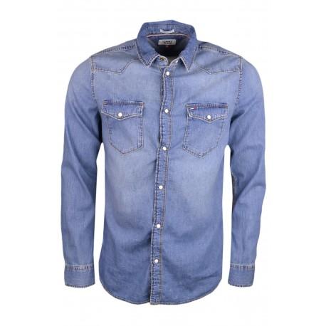 Chemise en jean Tommy Jeans bleu régular pour homme