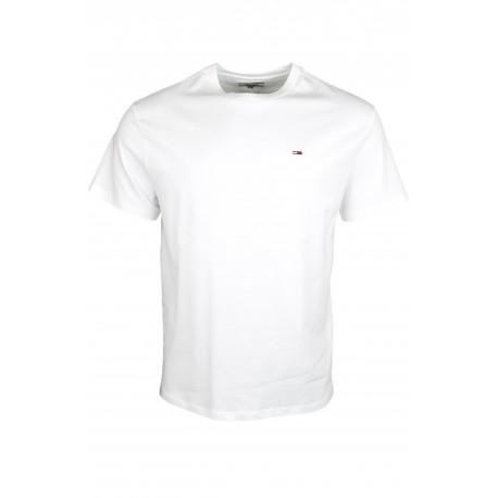 T-shirt col rond Tommy Jeans blanc régular pour homme