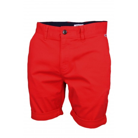 Bermuda chino Tommy Jeans rouge pour homme