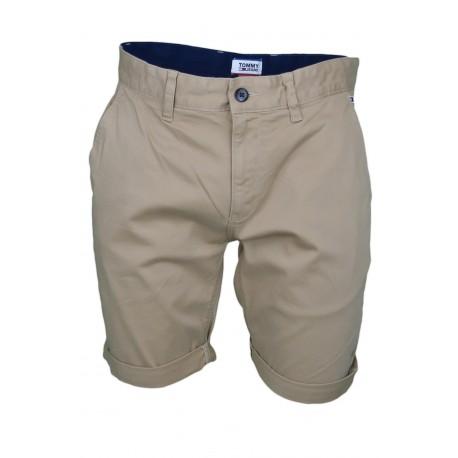 Bermuda Tommy Jeans beige sable régular pour homme