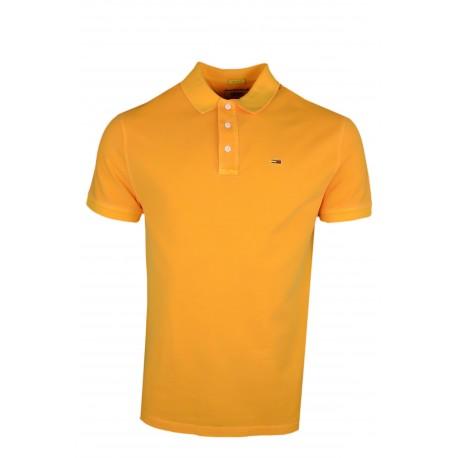 Polo Tommy Jeans jaune orangé régular fit pour homme