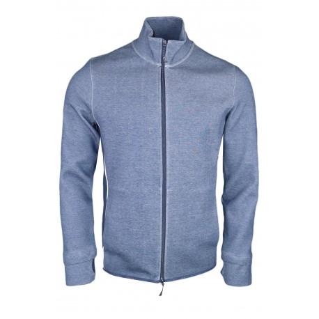 Veste zippée Armani Exchange bleu marine pour homme