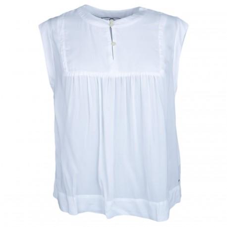 Blouse sans manches Tommy Jeans blanche pour femme