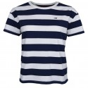 T-shirt court Tommy Jeans rayé bleu marine et blanc pour femme