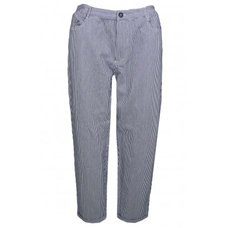 Pantalon rayé Tommy Jeans bleu marine et blanc pour femme