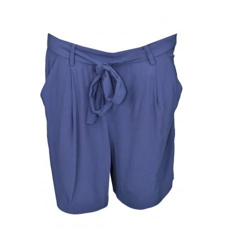 Short fluide Tommy Jeans bleu marine à ceinture nouée pour femme