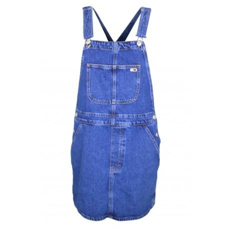 Robe salopette Tommy Jeans bleu en jean pour femme