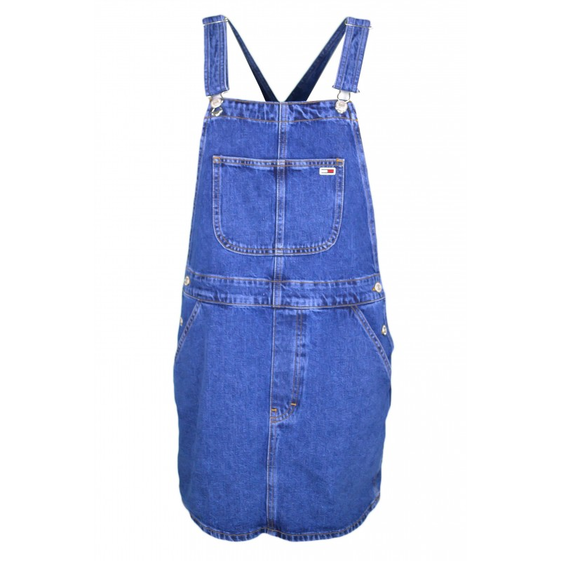 chaussures de séparation 292ae c4b2b Robe salopette Tommy Jeans bleu en jean pour femme - Toujours au me...