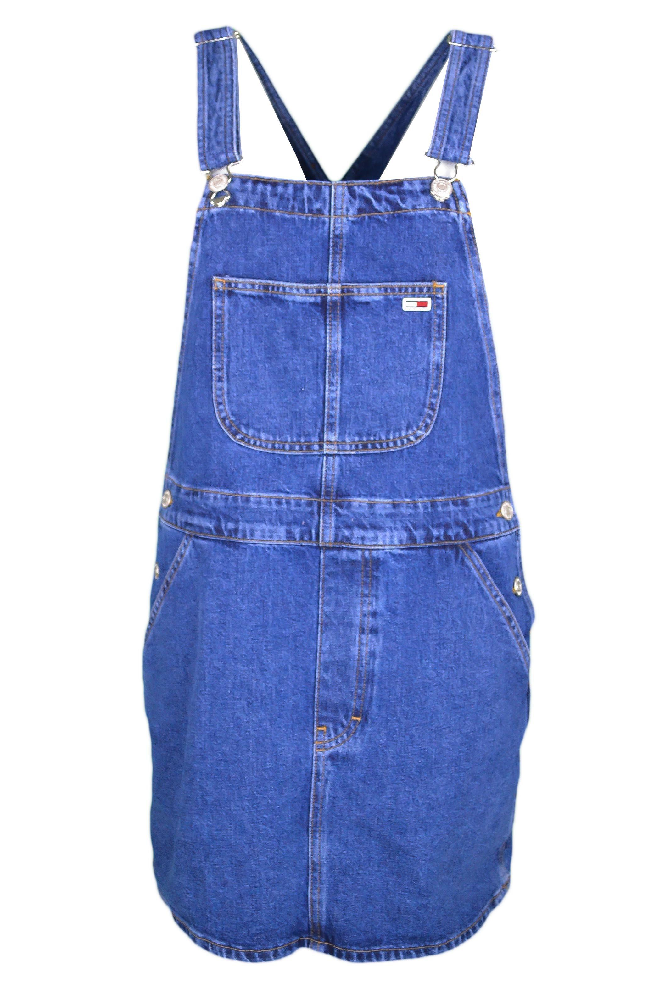chaussures de séparation c1e51 bf643 Robe salopette Tommy Jeans bleu en jean pour femme - Toujours au me...
