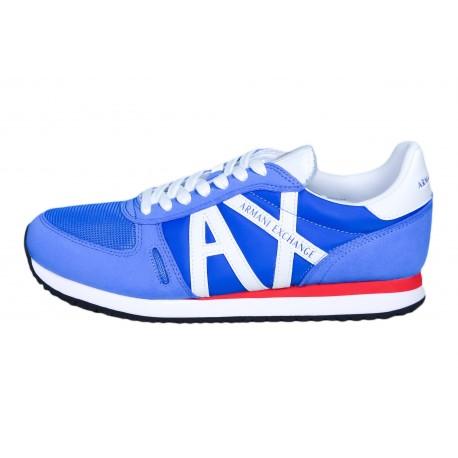 Baskets Armani Exchange bleu pour homme