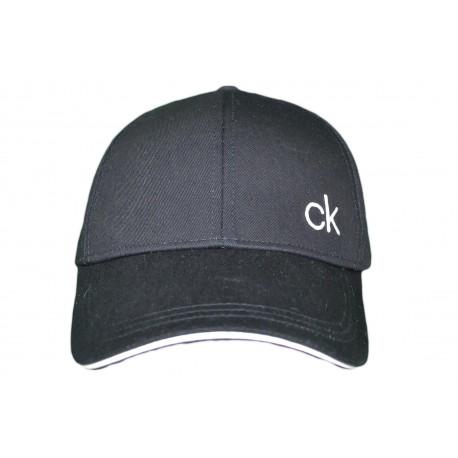 Casquette Calvin Klein noire monogramme CK contrasté pour homme