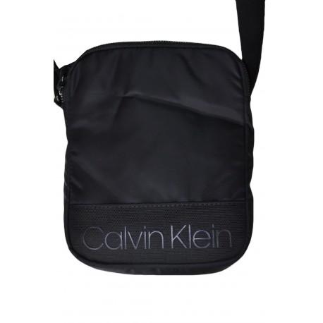 Sac bandoulière Calvin Klein noir en nylon pour homme