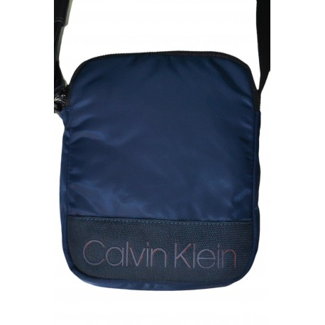 Sac bandoulière Calvin Klien bleu marine en nylon pour homme