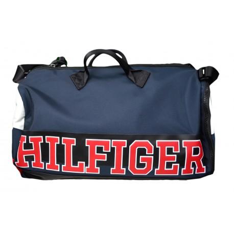 Sac de sport Tommy Hilfiger bleu marine rouge et blanc pour homme