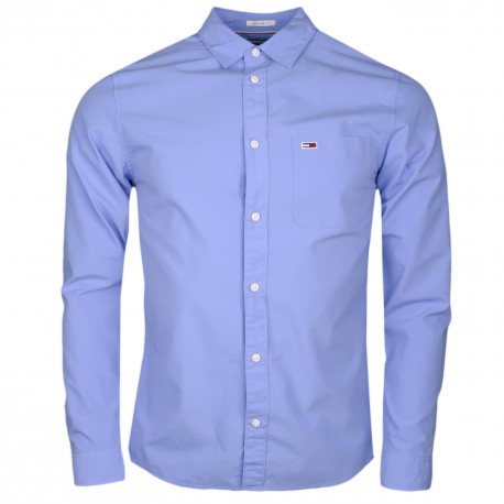 Chemise Tommy Jeans bleu ciel basique régular fit pour homme