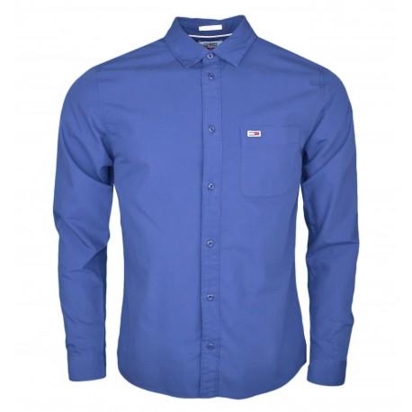 Chemise Tommy Jeans bleu marine basique régular fit pour home