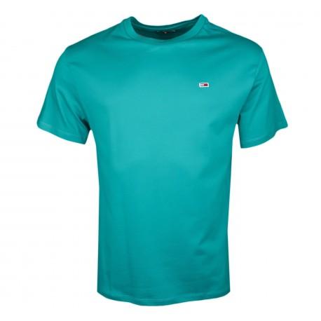 T-shirt col rond Tommy Jeans vert régular fit pour homme