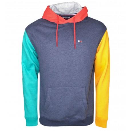 Sweat à capuche Tommy Jeans multicolore en molleton pour homme