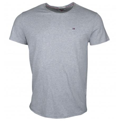 T-shirt col rond Tommy Jeans gris basique slim fit pour homme