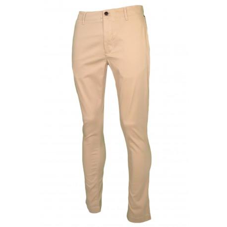 Pantalon chino Tommy Jeans beige slim fit pour homme