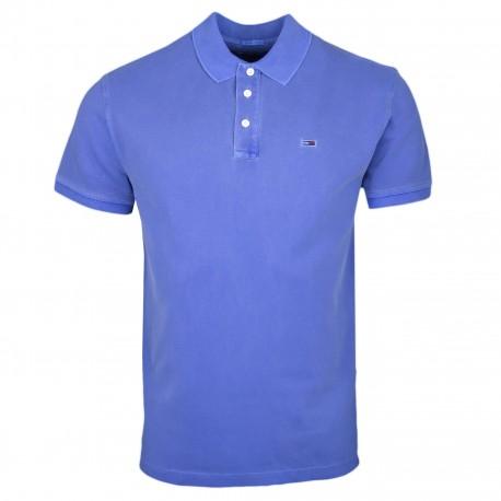 Polo Tommy Jeans bleu indigo régular fit pour homme