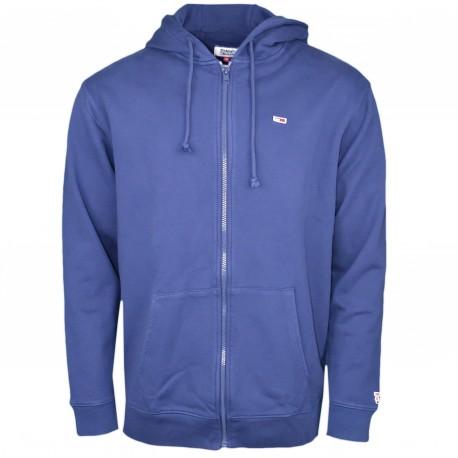 Veste sweat zippée Tommy Jeans bleu marine pour homme