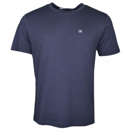 T-shirt col rond Calvin Klein bleu marine basique pour homme