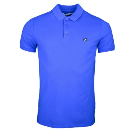 Polo Calvin Klein bleu royal slim fit pour homme
