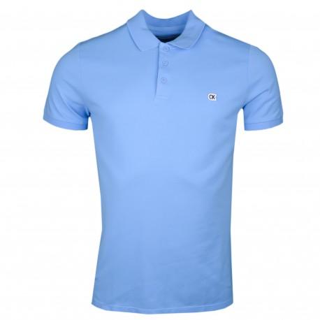 Polo Calvin Klein bleu ciel régular fit pour homme