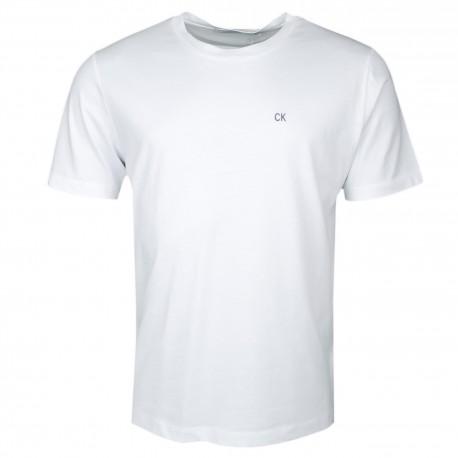 T-shirt col rond Calvin Klein blanc basique pour homme