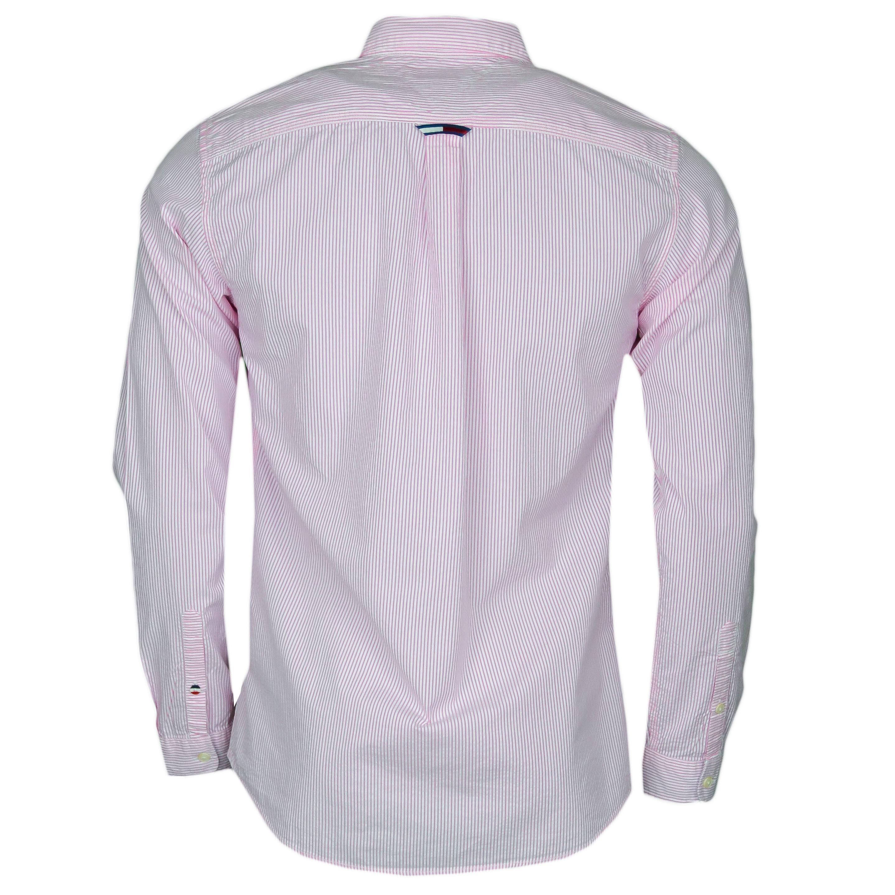 expédition gratuite en présentant magasin en ligne Chemise rayée Tommy Jeans rose et blanche régular fit pour homme - ...