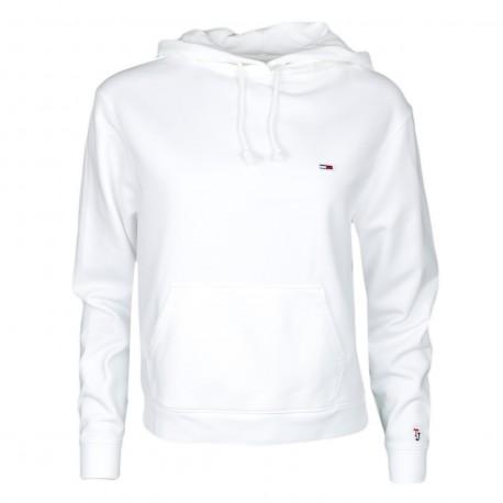 Sweat à capuche Tommy Jeans blanc pour femme