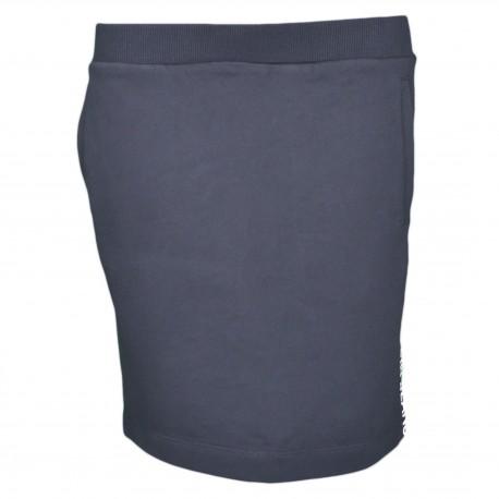 Jupe Calvin Klein noire en jersey insigne sur le côté pour femme