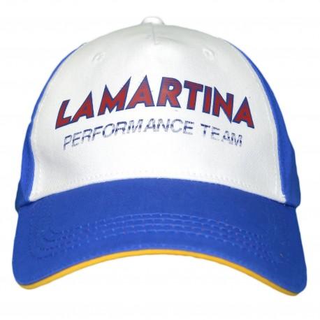 Casquette La Martina bleu et blanche Maserati performance team pour homme