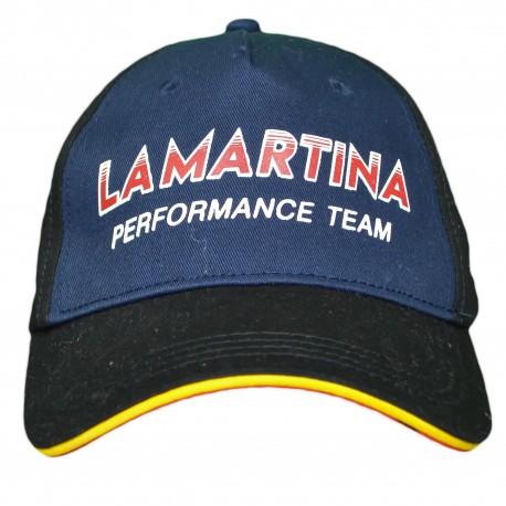 Casquette La Martina noire et bleu marine Maserati performance team pour homme
