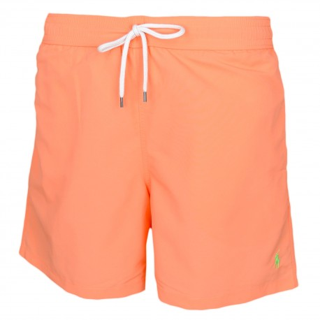 Short de bain Ralph Lauren orange logo vert pour homme