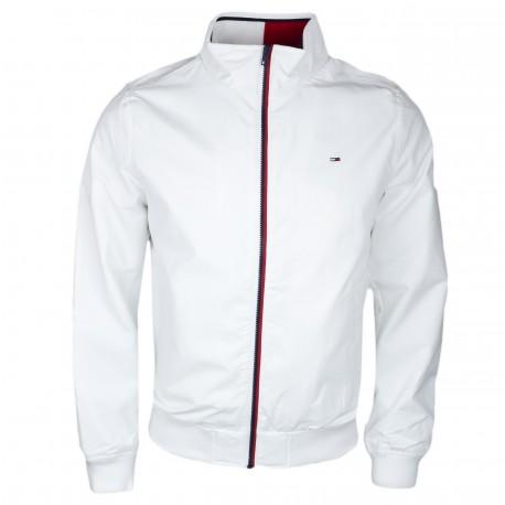 Veste bomber Tommy Jeans blanche pour homme
