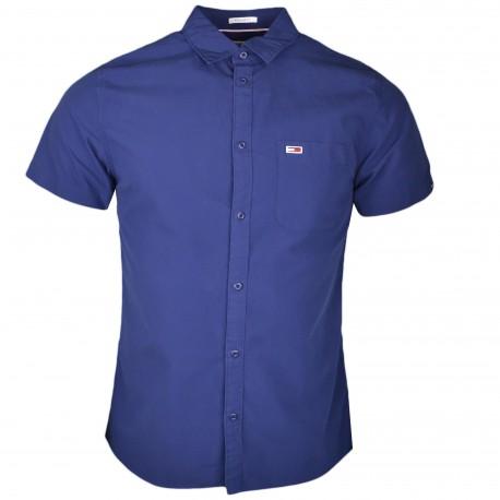 Chemise manches courtes Tommy Jeans bleu marine régular fit pour homme