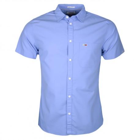 Chemise manches courtes Tommy Jeans bleu ciel régular fit pour homme