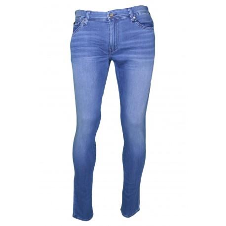 Jean Armani Exchange bleu skinny 5 poches pour homme