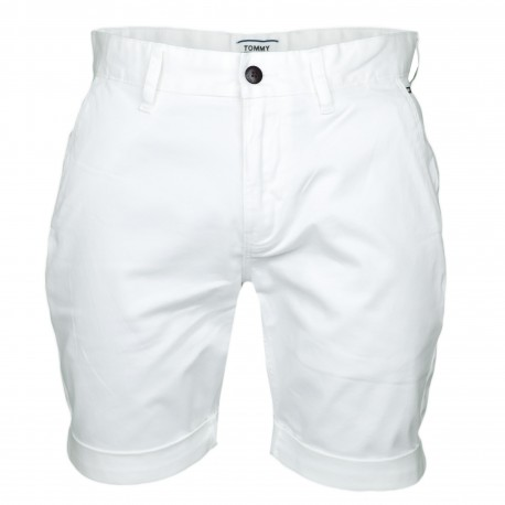 Bermuda chino Tommy Jeans blanc classique pour homme
