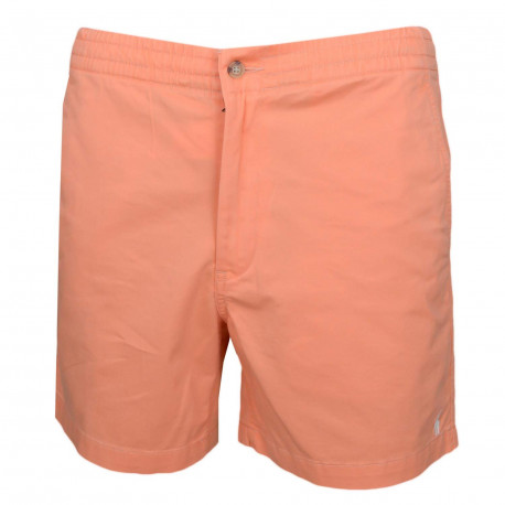 Short Ralph Lauren orange logo blan pour homme