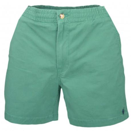 Short Ralph Lauren vert logo bleu marine pour homme