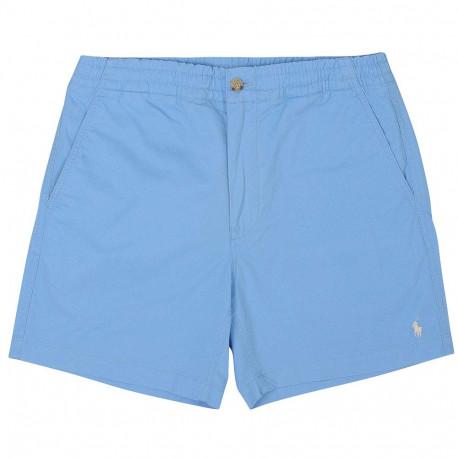 Short Ralph Lauren bleu logo blanc pour homme